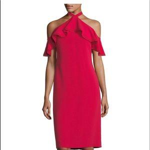 Shoshanna Size 8 New Red Stretch Crepe Dress